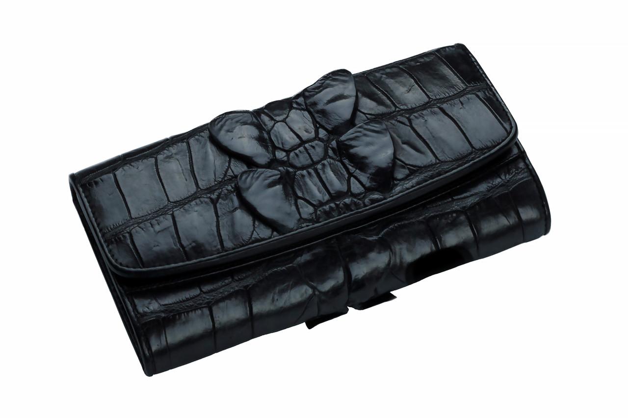 Кошелек из кожи крокодила  Ekzotic Leather черный