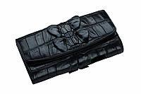 Кошелек из кожи крокодила  Ekzotic Leather черный, фото 1