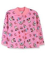 Кофта ясельная интерлок цветной (Девочка) (Розовая 48 (74-80) см)