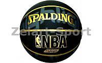 Мяч баскетбольный Composite Leather №7 SPALDING  NBA HIGHLIGHT GOLD Indoor/Outdoor (черный)