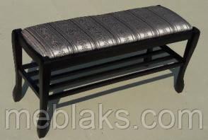 Банкетка Гармония 90 см с полкой Fusion Furniture, фото 3