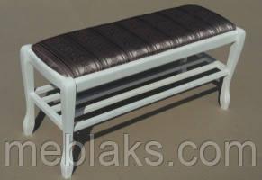 Банкетка Гармония 90 см с полкой Fusion Furniture, фото 2