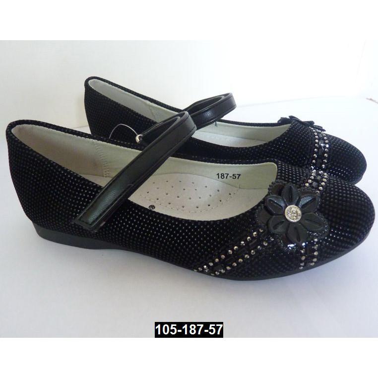 Туфли школьные для девочки, 27 размер (17.5 см), супинатор, кожаная стелька