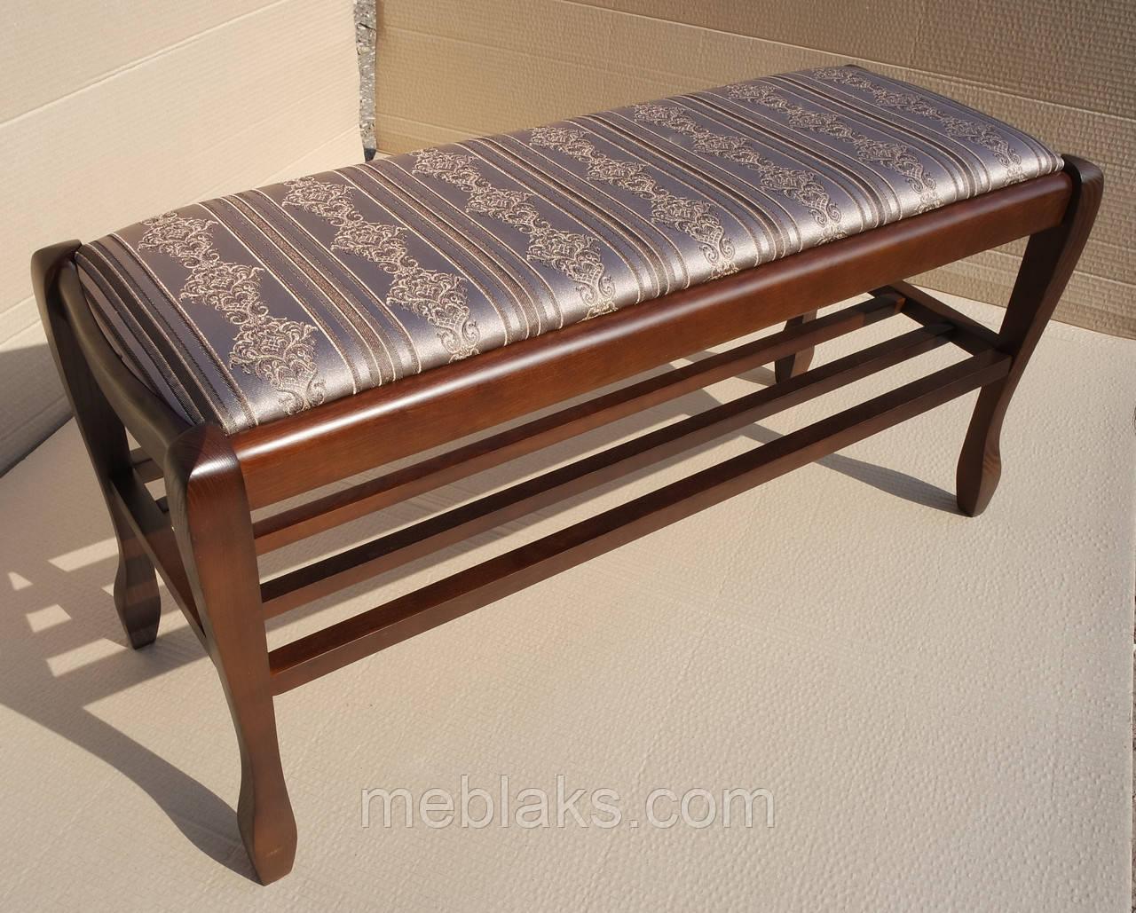 Банкетка Гармония 90 см с полкой Fusion Furniture