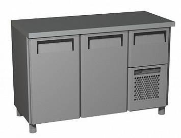 Холодильний стіл Carboma BAR 250C (скляні двері), фото 2