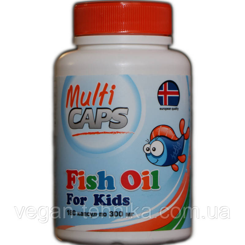 Рыбий жир для детей (из печени трески) MULTICAPS, 300 мг