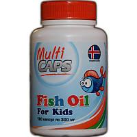 Рыбий жир для детей (из печени трески) MULTICAPS, 300 мг, фото 1