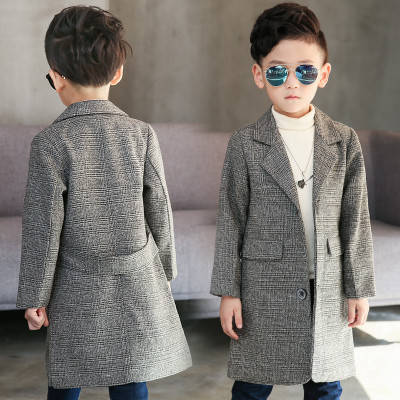 Детское пальто для мальчика серое Классика, фото 2
