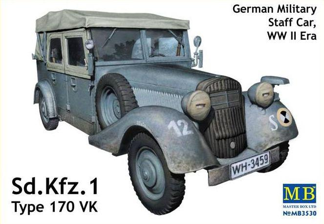 Sd.Kfz.1 Type 170 VK, German Military Staff Car. 1/35 MB3530