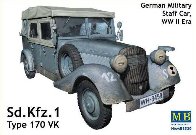 Sd.Kfz.1 Type 170 VK, German Military Staff Car. 1/35 MB3530, фото 2