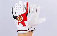 Перчатки вратарские MANCHESTER (PVC, р-р 8-10, черный-красный)