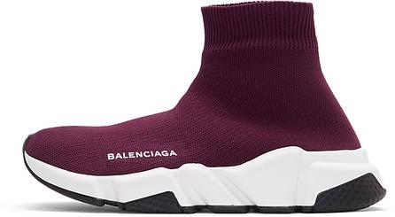 Кроссовки женские BALENCIAGA Speed Runners burgundy баленсиага женские, фото 2