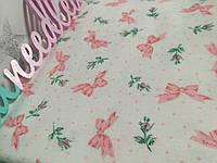 Набор пеленок Розовые бантики, горошек, розочки 90см х 100см