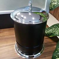 Ведро для мусора Kugu Freestand 926C&B, хром/черное
