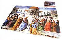 """Подстилка (подставка) под тарелку и подстаканник (комплект) """"Святой Петр"""" с цитатой из Библии"""