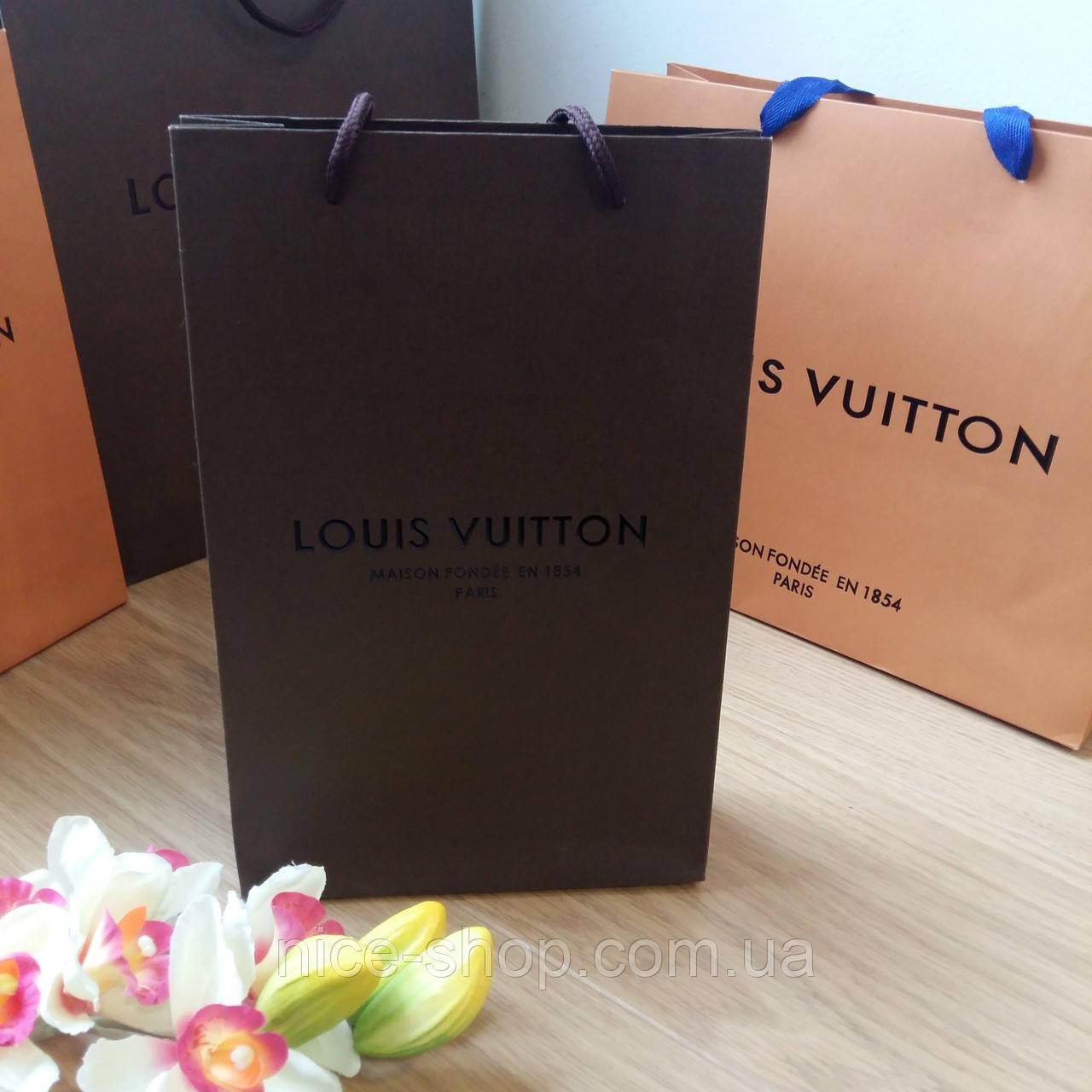 Подарочный пакет Louis Vuitton:коричневый, вертикаль, mini