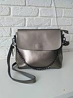 """Женская кожаная сумка """"Синди 3a Silver"""", фото 1"""