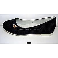 Туфли, балетки для девочки, 32 размер, супинатор, кожаная стелька, белая подошва