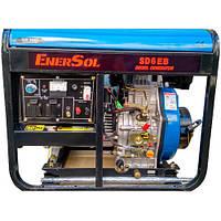Дизельний однофазний генератор Enersol SD-6E(B) AVR
