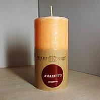 Арома свеча Цилиндр Амаретто Д=4.6см Н=9.5см - 140 гр