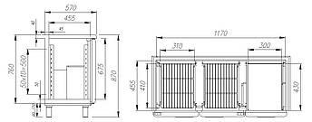 Холодильный стол Carboma BAR 250C (стеклянные двери), фото 2