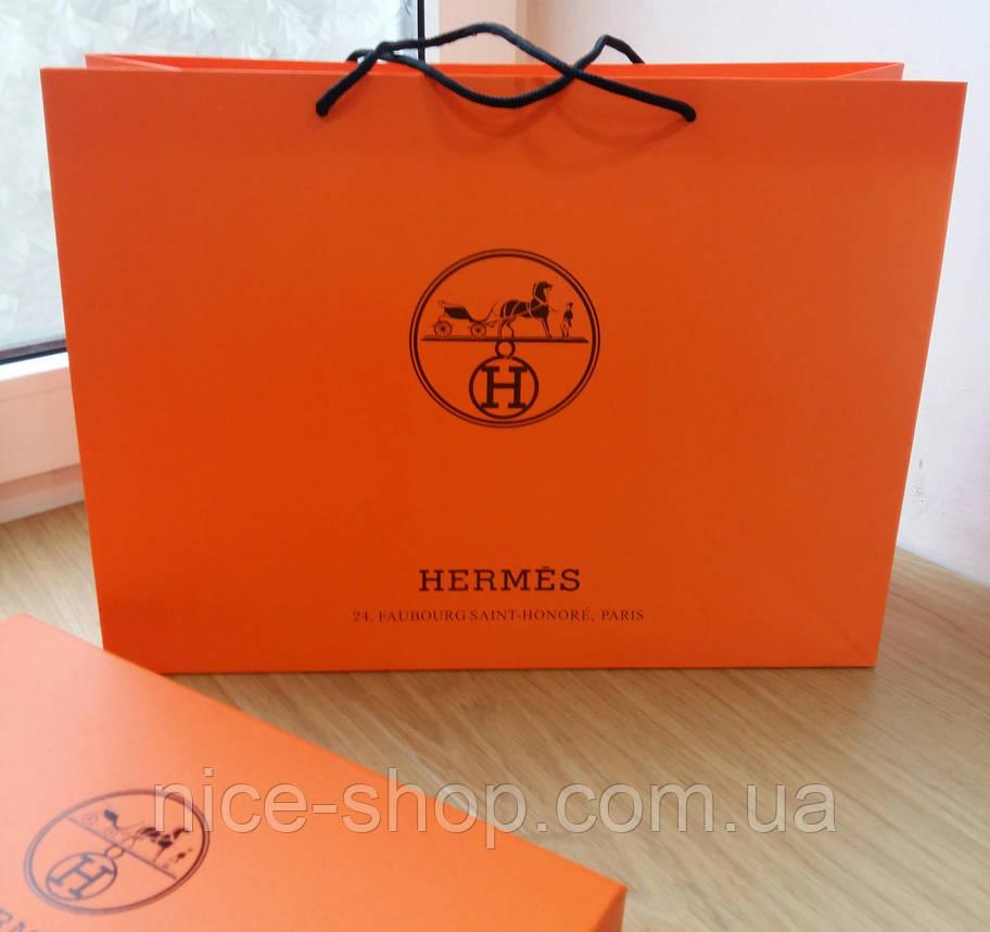 Подарочный пакет Hermès: горизонталь, mахi, фото 2
