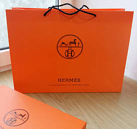 Подарунковий пакет Hermès: горизонталь, махі