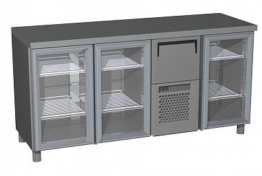 Холодильний стіл Carboma BAR 360C (скляні двері)