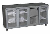 Холодильный стол Carboma BAR 360C (стеклянные двери)