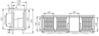 Холодильний стіл Carboma BAR 360C (скляні двері), фото 2
