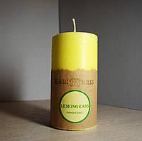 Арома свеча Цилиндр Лемонграсс  Д=4.6см Н=9.5см - 140 гр