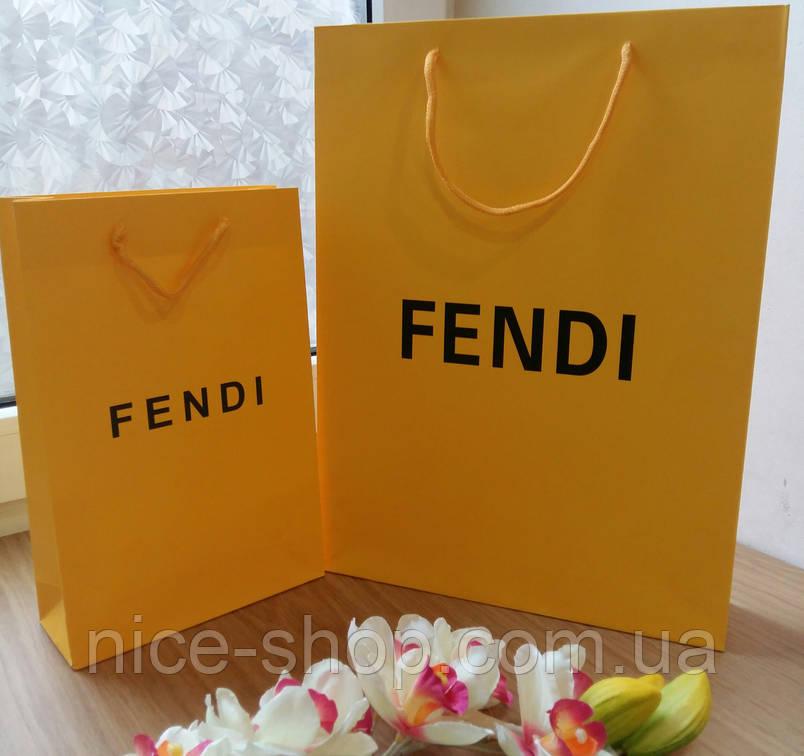 Подарочный пакет Fendi:вертикаль, mахi, фото 2