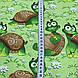 Хлопковая ткань польская веселые черепахи №190, фото 3