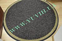 Грязезащитный ковер «Поляна» круглый 1200мм. коричневый