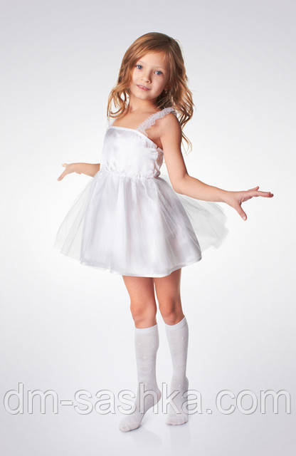 Детский карнавальный костюм «СНЕЖИНКА» рост 80-86, 92-98
