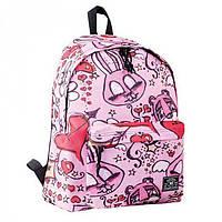 Стильный молодежный рюкзак нежно-розового цвета с принтом 1Вересня арт. 553962