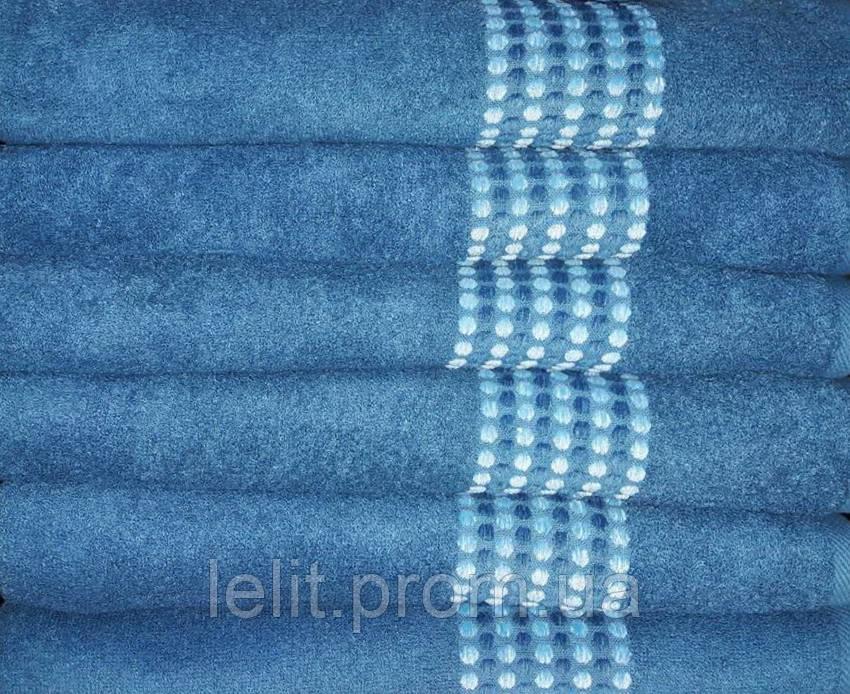 ТМ TAG Полотенце махровое Goroh (синий) 50х90