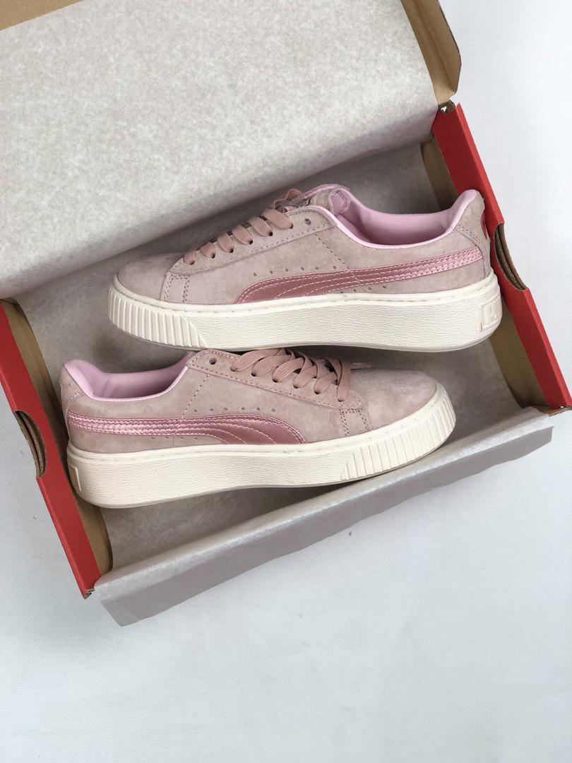 3724d50c Женские кроссовки в стиле PUMA Rihanna Suede Creeper розовые замша ...