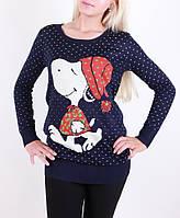 Женские туники,теплые осенние туники оптом  Snoopy