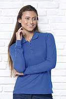 Футболка - поло женская с длинными рукавами, JHK T-shirt , Испания, однотонная, 100% хлопок
