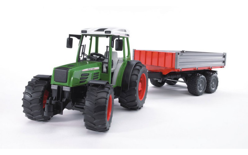Игрушка - трактор Fendt 209 S с прицепом, М1:16