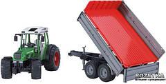 Игрушка - трактор Fendt 209 S с прицепом, М1:16, фото 2