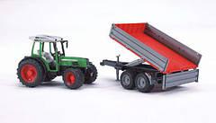 Игрушка - трактор Fendt 209 S с прицепом, М1:16, фото 3
