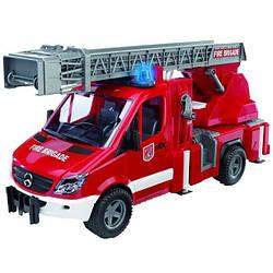 Игрушка - пожарный МВ Sprinter с лестницей (+водяная помпа+свет и звук), М1:16