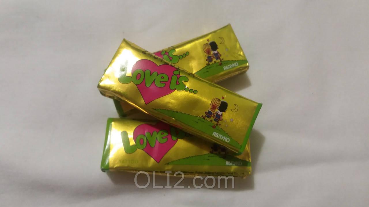 Жвачки Love is  Яблуко- жевательная конфета лове ис
