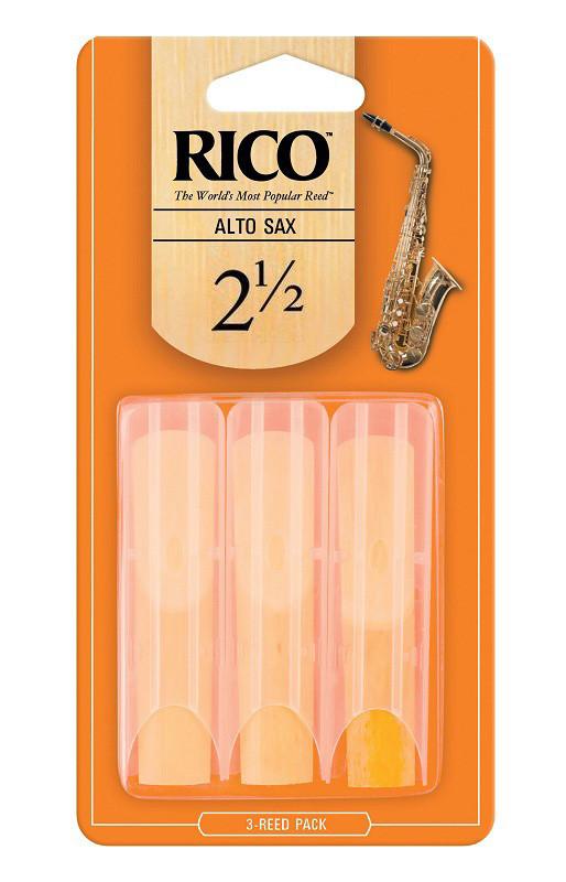 Трости для духовых RICO Rico - Alto Sax #2.5 - 3-Pack
