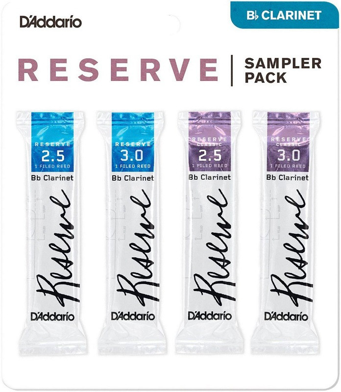 Трости для духовых D`ADDARIO Reserve Reed Sampler Pack Filed - Bb Clarinet #2.5/3.0
