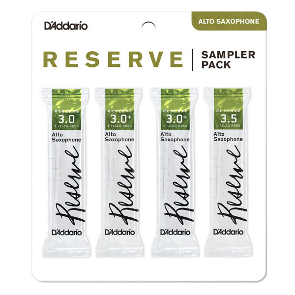 Трости для духовых D`ADDARIO Reserve - Alto Sax Reed Sampler Pack #3.0/3.0+/3.5