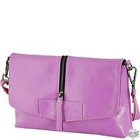 Женская фиолетовая кожаная сумка-клатч TRAUM 7312-06