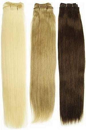 Натуральные европейские волосы на трессе длиной 60 см